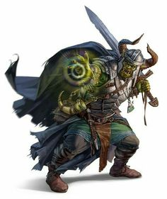 Orc Warpriest of Gorum - Pathfinder PFRPG DND D&D d20 fantasy