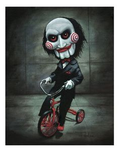 Billy Sawing - Rick Dienzo Blanco Horror Cartoon, Horror Icons, Horror Art, Creepy Drawings, Halloween Drawings, Animal Drawings, Creepypasta, Scary Paintings, Horror Films