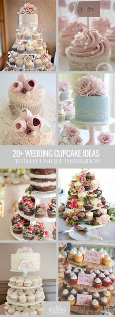 30 Totally Unique Wedding Cupcake Ideas ❤ Wedding cupcake contunie to be the trend for all seasons of wedding. See more: http://www.weddingforward.com/unique-wedding-cupcake-ideas/ #weddings #cupcakes