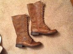 Combat Zip Steve Madden Brown Boots