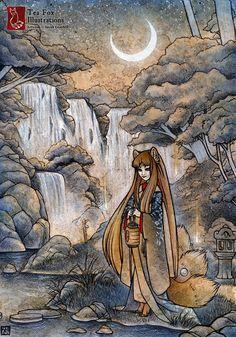 tenseicat  - Mixed Media Illustrations by Sarah Graybill  <3 <3