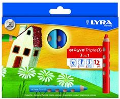 Lyra Triple Groove 1 - Pencil Crayon Water Soluble - All In One 12 Colours Set Watercolor Paint Set, Watercolor Pencils, Artist Pencils, Wax Crayons, Drawing Letters, Acrylic Colors, Colored Pencils, Blog, Japan