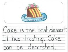 Kindergarten Opinion Writing Mentor Texts:  What is the Best Food?
