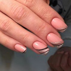 35 best fall nail art designs you must try 00048 French Manicure Designs, Fall Nail Art Designs, Toe Nail Designs, Beautiful Nail Art, French Nails, Simple Nails, Christmas Nails, Toe Nails, Beauty Nails