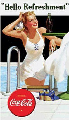 Drink Coca Cola Coke Hello Refreshment Beauty Cartel de chapa en AllPosters.es