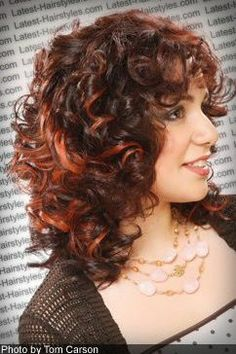 medium curly hair style picture second angle