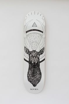 SOVRN skate deck by the tattoo artist Peter Carrington #tattoos #cerf #board