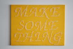 *Squeaky Swing: Projekt Wandgestaltung: Riesiges Stickbild Anleitung zum Selbermachen