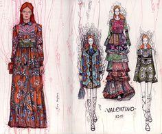fashion illustration, valentino, kira krylova