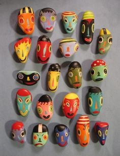 cool painted rocks by AOI