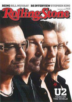U2 en la portada de Rolling Stone (Noviembre 2014)