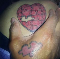 Missing Piece to Her Heart - Cool Puzzle Piece Tattoo Design Ideas, http://hative.com/cool-puzzle-piece-tattoo-design-ideas/,