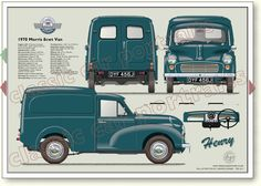 "Morris 6 cwt Van - Morris never called the Minor based van and pick-up ""Minor"", they were originally ""Quarter Ton"" and later cwt"" or 8 ""cwt"". Classic Cars British, Classic Sports Cars, Classic Mini, Morris Minor, Blueprint Drawing, Austin Cars, Microcar, Vintage Vans, Auto Vintage"