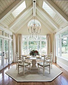 sunroom skylight 2 painted ceiling , beams