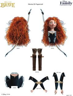 boneca princesa merida 3d