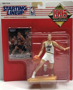 This just in at The Angry Spider Vintage Toy Store: TAS038079 - 1995 ...  Check it out here! http://theangryspider.com/products/tas038079-1995-kenner-starting-lineup-nba-jeff-hornacek-utah-jazz?utm_campaign=social_autopilot&utm_source=pin&utm_medium=pin