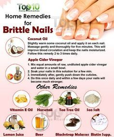 Everyone strives to have beautiful nails, but brittle nails can spoil the beauty Weak and brittle nails that can easily become cracked or chipped are a common problem affecting both men and women There are three main factors that cause brittle nail - n Beauty Care, Diy Beauty, Beauty Hacks, Beauty Tips, Homemade Beauty, Beauty Products, Top 10 Home Remedies, Natural Remedies, Homeopathic Remedies