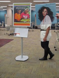 Now that you've found all your sources for your paper, need some writing assistance?  Well, Donna Summer is happy to show you around the Learning Commons area of the library, home of the Writing Center.