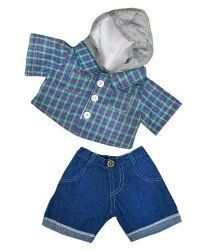dd1b23508fe Skater Hoodie W/Denim Pants Teddy Bear Clothes Outfit Fits Most - Build-A- Bear, Vermont Teddy Bears, And Make Your Own Stuffed Animals