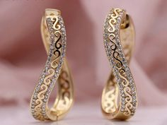 Unique Wave Big Circle Drop Earrings Women Rose Gold  Price: 20.00 & FREE Shipping  #hashtag3 Fashion Jewelry, Women's Fashion, Gold Price, Ear Rings, Women's Earrings, Waves, Rose Gold, Free Shipping, Big