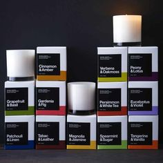 Packaging design for collection of exclusive Crate and Barrel scented candles. Contributed as one of two designers on this collaborative project.