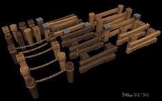 Wooden Fence asset by ~Jimpaw on deviantART