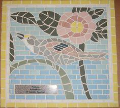 Audubon mosaic tile - Seaside Sparrow 93