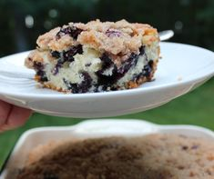Blueberry & Cinnamon Streusel Brunch Cake | Your Party Tuned Up