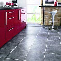 Wickes Anthracite Dark Grey Matt Floor Tile 330x330mm