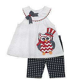 97a576ff483 Rare Editions 324 Months Americana Owl Dress and Leggings Set  Dillards  Patriotic Dresses