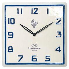Nástěnné keramické hodiny JVD quartz TS2618.2 francouzského vzhledu Tyto  keramické chalupářské hodiny zajisté zaujmou 7762119d21