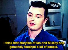 """That's just. That's like the best feeling ever."" Noel Fisher on Gallavich - VERY cool thing to say!!"