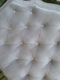 Tufted Headboard King Queen Full Twin Gray by HarrisMarksHome