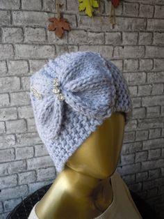 Blue Grey Knit Headband / Knit Headband Knit by bosphorusscarf