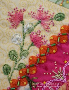 Crazy Quilting Embroidery Rick Rack 33 Ideas For 2019 Hand Embroidery Stitches, Silk Ribbon Embroidery, Hand Embroidery Designs, Embroidery Applique, Cross Stitch Embroidery, Embroidery Patterns, Quilt Patterns, Block Patterns, Crazy Quilt Stitches