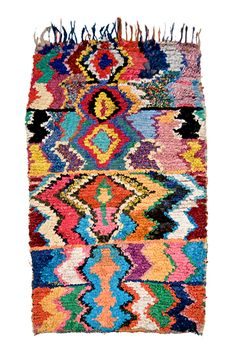 Moroccan rug made by semi-nomadic Berbers...also seen in our 05/World Textiles issue.