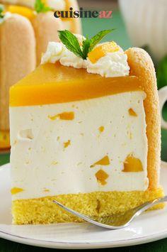 Dans cette recette de charlotte aux fruits exotiques il y a de la mangue et de l'ananas. #recette#cuisine#fruit #fruitexotique #charlotte#patisserie