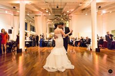 First dance - Wedding at Terra Gallery, San Francisco {Photo by Bustle & Twine}