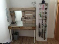 Vanity made from pallets