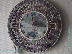 Декор предметов Интерьер Плетение Тик-так часики   Бумага газетная Трубочки бумажные фото 17