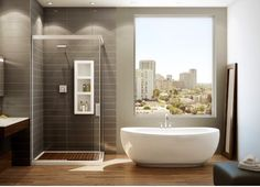 Master Bath : Maax Serenade freestanding tub