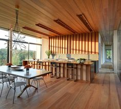 wood floor and wood ceilings \\\ Mothersill by Bates Masi Architects