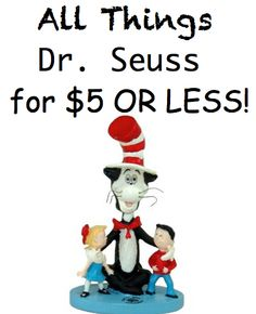All Things Dr. Seuss for ONLY $5 or LESS! HUGE List of Dr. Seuss things from books, toys, apps, classroom supplies for teachers, games and more!