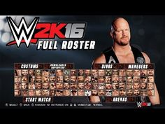 6f4d11554a WWE 2K16 Official Full Roster - All 126 Superstars   Divas ( WWE 2K16  Official Roster ) YouTube