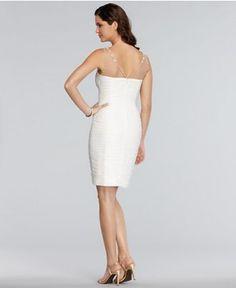 Adrianna Papell Dress, Sleeveless Jeweled Beaded Pleated Tulip Hem Cocktail Dress - Shop all Wedding Dresses - Women - Macy's