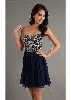 2014 A-line Short/Mini Sweetheart Neckline Chiffon Prom /Homecoming Dresses