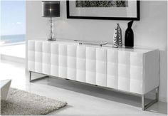 The ultimate Design Home for modern, contemporary or bespoke Buffets and Cabinets, to complete your dining room furniture set, your living room or your hallway. Sofa End Tables, Luxury Homes Interior, High Gloss Furniture, Diy White Bathrooms, Contemporary Furniture, Living Room Decor, Bedroom Closet Design, White Sideboard Buffet, Furniture