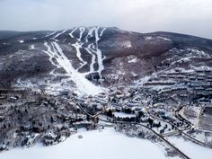 An overview of Mont Tremblant in Quebec. Year-round resort famous for skiing and European-style village. Quebec, Vacation Destinations, Vacation Trips, Places To Travel, Places To Visit, List Of Cities, Winter Activities, Skiing, Snowboarding