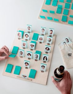 DIY your own personalized game of Guess Who with this tutorial. - Kids Crafts - Holiday Makes - DIY Board Games Diy Projects To Try, Craft Projects, Craft Tutorials, Diy For Kids, Crafts For Kids, Fun Crafts, Diy And Crafts, Ideias Diy, Diy Games