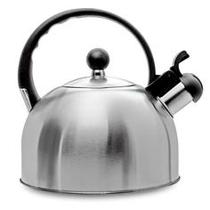 Whistling Stovetop Tea Kettle- Stainless Steel Tea Kettle- Tea Pot Serves up to Cups- with Cool Grip Ergonomic Handle- Rust Resistant Liter Stovetop Kettle- by Millennium (Stainless Steel)